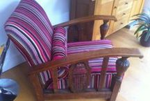 9. Reupholstery & recovery / Examples of upholstery & re-upholstery work, with as many before & after photos as we can remember to post!  Send photos and measurements if you want a quote.