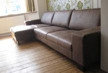 Faux leathers & vinyls / These may be cost effective and practical alternatives to leather - especially for worth considering for kitchen diners & rentals.