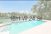 1611 W 24 Street / Former NBA star Peja Stojakovic lists Miami Beach home on Sunset Islands for $8.9 million.