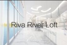 The River Loft / The most interesting and innovative one-of-a-kind waterfront residence in Fort Lauderdale. The River Loft curves above 250 feet of shoreline on the picturesque middle river. Standing on an incredible 83-foot long terrace, 25 feet above the water, you overlook Riva's private boat docks and riverwalk garden.