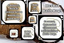 Herbal Bath Bags - Gift Ideas / Everything pinned to this board is available for purchase.