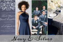Colour: Navy + Silver  Wedding