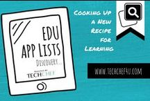 EDU App Lists / App Lists Worth Pinning. / by TechChef4u