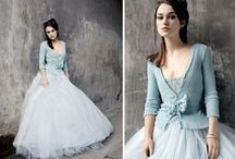 Colour: Pale Placid Blue wedding / Placid blue (Pantone 15-3920) is a hot colour trend for spring weddings in 2014.