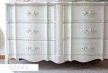Painted French provincial dressers