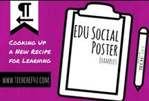 Social Poster EDU Examples / Social Poster (Tackk and Smore) Exemplars Created by Students and Teachers.