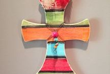 My Cross Collection / I love crosses! I think they are beautiful and remind me of the greatest gift ever given to me. This album is all of the crosses in my home.  / by Melody Shaw