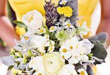 Colour: Yellow grey chevron wedding