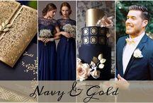 Colour: Navy + Gold Wedding