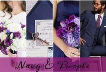 Colour: Navy + purple wedding