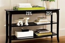 Shelf & Bookcase Styling / Shelf styling, bookcase styling and accent table styling.