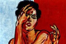 Expresiones y expresionismo de CARMEN LUNA / Pinturas al óleo o técnicas mixtas. En cada personaje o paisaje se busca el gesto como una forma de descifrar el alma... / by CARMEN LUNA