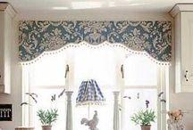 Interesting window dressings and decor