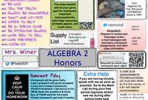 High School Math Lesson Plans / Math lesson ideas mainly on Pre-Calculus, Trig, and Algebra 2