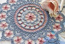 Crochet coasters and doillies