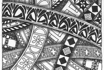 Zentangle designs and patterns