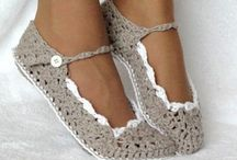 Crochet slippers and shoes