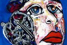 SOY...Retratos Expresionistas. / De tánto perseguir el gesto en cada uno de mis retratados, como una manera de descifrar sus almas, ha llegado ese momento donde modelo y artista, somos uno. ¿Quien atrapa a quien..? ( Carmen Luna )  Serie Completa: http://www.artmajeur.com/es/artist/carmenluna/collection/soy-retratos-expresionistas/1609750