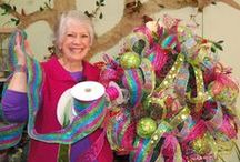 Fun with Ribbon / Ribbons are the heart of all my designs. I have several ribbon & bow video tutorials. Happy bow making!