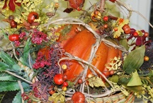 "FREE ""Pumpkin Basket Centerpiece"" Video / FREE ""Pumpkin Basket Centerpiece"" Video from Nancy.  This Fall or Thanksgiving centerpiece is so easy -- you really won't believe it.  I filmed this free video for you so you can have a colorful, fall arrangement to use just about anywhere!  I hope you have lots of fun making this one! http://ladybugwreaths.com/doorwreaths/free-videos/ / by Ladybug Wreaths, Nancy Alexander"