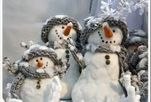 Snowy winter scenes / by Ladybug Wreaths, Nancy Alexander