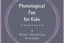 Phonological Fun / Help kids strengthen phonological awareness by teaching them about rhymes, syllables, and phonemes.
