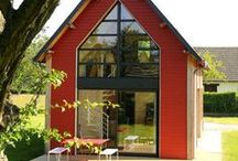 think small... / small houses --- simple living--- inside and outside