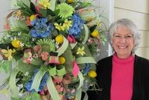 Deco Mesh Wreaths / A collection of Deco Mesh Supplies, Wreaths and discussing How To's