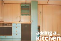 Shepherd's Hut Kitchens / Despite being just 8m² on average, our shepherd's huts are deceptively spacious. We can comfortably fit a fully functioning kitchen into one of our huts — and we don't even have to settle for smaller appliances!