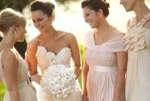| blushing bridesmaid dresses | / A collection of beautiful, blush bridesmaid dresses.