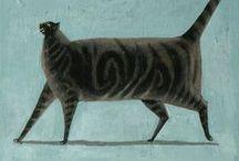 Cats are everywhere / Animal art & Illustration