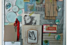 Inspiration Boards via Serendipity Vintage Studio / Like a bird feathering its nest, I'm attracted to shiny objects and bits and pieces of all kinds! I love to display on the inspiration board in my studio. I hope you enjoy them as much as I do!