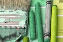 Great Green / These fresh arts and crafts activities will have you dreaming of emerald art and minty DIY projects.