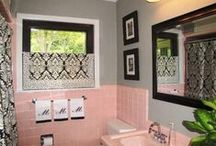 My 50's pink bathroom / by Denise Walters
