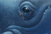 Whales / Art & illustration - Moby Dick & Other Whales