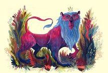 Lions / Animal art & Illustration