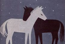 Horses & Donkeys / Animal art & illustration / by Laura Ottina