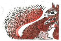 Squirrels / Animal art & illustration