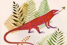 Snakes, Lizards & Chameleons / Animal art & illustration