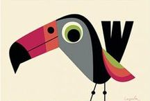 Parrots and Toucans / Animal art & illustration