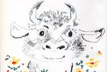 Cows & Bulls / Animal art & illustration
