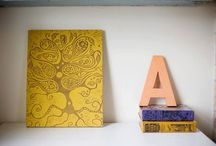 ART: my creations / Some of my original relief prints / by Karla Marie