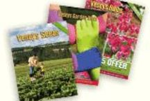 Garden Catalogs / Great looking catalogue covers. #garden #gardening #catalogs / by Veseys Seeds + Garden