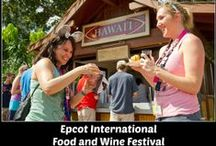Epcot Food & Wine Festival / Visit the Food Booths - Eat around the world and drink around the world.  Enjoy fresh food, fine wine and craft beers from the global marketplaces & food booths.  Enjoy the Eat to the Beat Concerts, Food and Beverage Pairings, Special Dinners and seminars.  There is even exclusive Disney merchandise available.