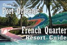 Disney's Port Orleans Resort - French Quarter #POFQ Tips, Discount Codes & Information / A Walt Disney World Moderate Resort. Stay in the magic! Check out the resort rates, room types & room views, maps & room layouts.  Discover on-site resort benefits like Extra Magic Hour, FastPass+, MyDisneyExperience and so much more.  Learn more about discounts, dining menus, restaurants, pools, kid's activities and other recreation information.  We love the pool with the dragon slide and the Big Easy theme!