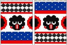 Käsityöt - knitting charts / fair isle // patterns // charts
