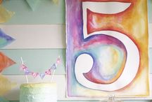 Chloe's 5th Birthday paint party / by Carrie Couture