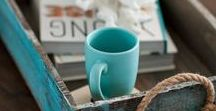 Coastal Style / Coastal and beachy interior design and home decor inspiration and styling tips.
