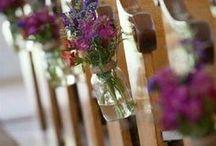 Church Wedding Decorations / Ideas for decorating church--son's wedding.
