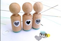 Stamps Miss Honeybird / Rubber stamps with a retro feeling.